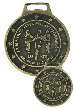 medal odlewany - biegi