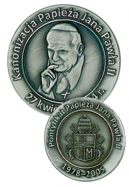 medal odlewany - papież