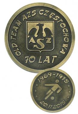 medal odlewany - druk AZS