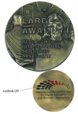 medal odlewany - druk UV