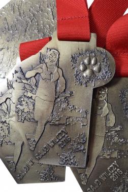 medal odlewany - bieg wilczy