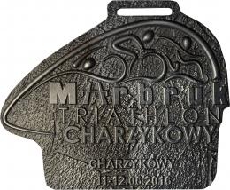 medal odlewany - Triathlon Charzykowy