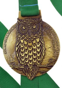 medal odlewany - sowa