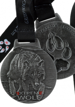 medal odlewany - extreme wolf