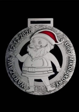 medal odlewany Mikołajki